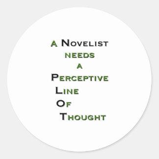 Novelist P.L.O.T. Classic Round Sticker