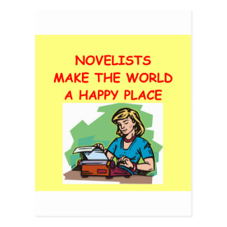 novelist postcard