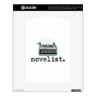 Novelista Calcomanías Para NOOK