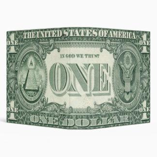 Novelty American 1 Dollar Illuminati Binder