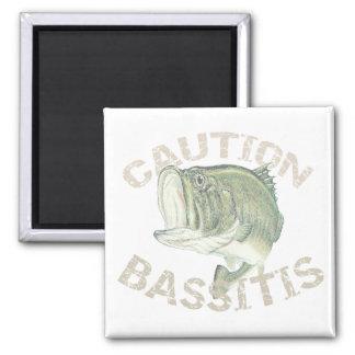 Novelty Bass Fishing - Caution Bassitis Magnet