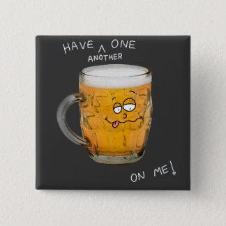 novelty beer monster badge pinback button