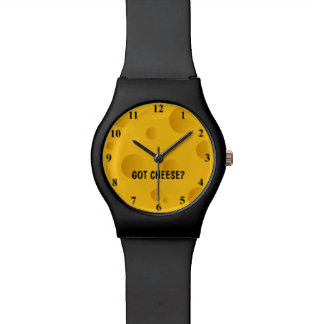 Novelty cheese watch with personalized quote