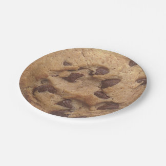 Novelty Chocolate Chip Cookie Paper Plate