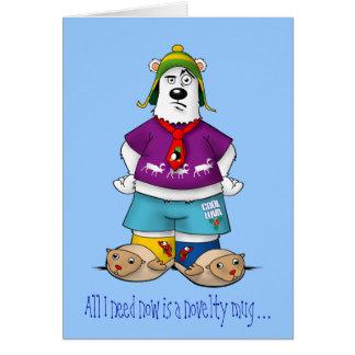 Novelty Christmas Bear Card