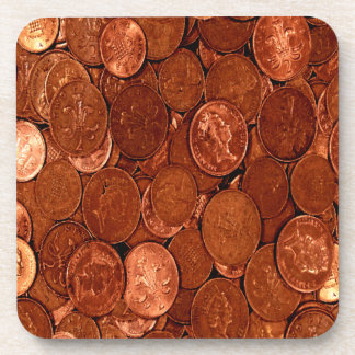 Novelty Copper Coins Beverage Coaster