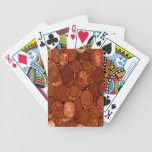 Novelty Copper Coins Bicycle Playing Cards