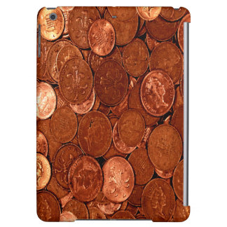 Novelty Copper Coins Cover For iPad Air
