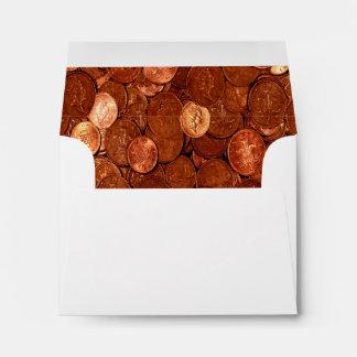 Novelty Copper Coins Envelope