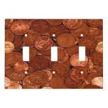Novelty Copper Coins Light Switch Cover