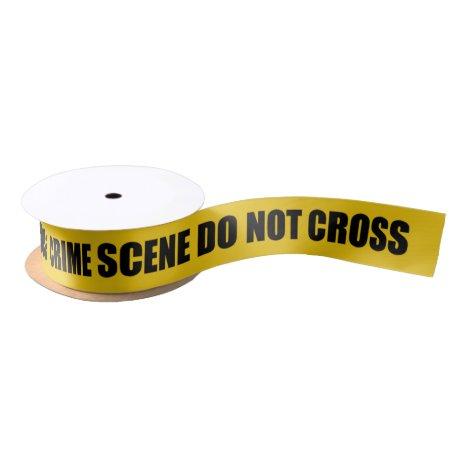 Novelty Crime Scene Do Not Cross Satin Ribbon