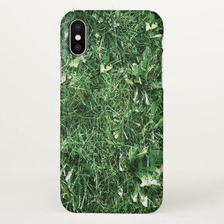 Novelty Design Summer Grass Initialized iPhone X Case