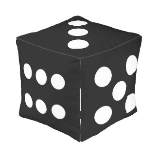 Novelty Dice Cube Pouf