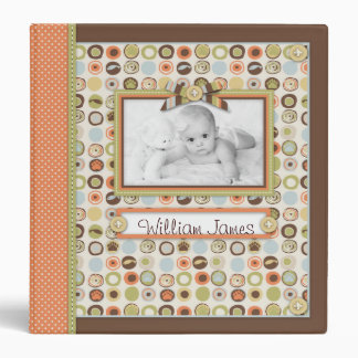 Novelty Dot & Orange Dot Spine Memory Book 3 Ring Binder