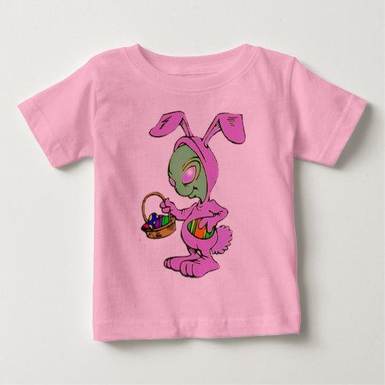 Novelty Easter Bunny Alien Design Baby T-Shirt