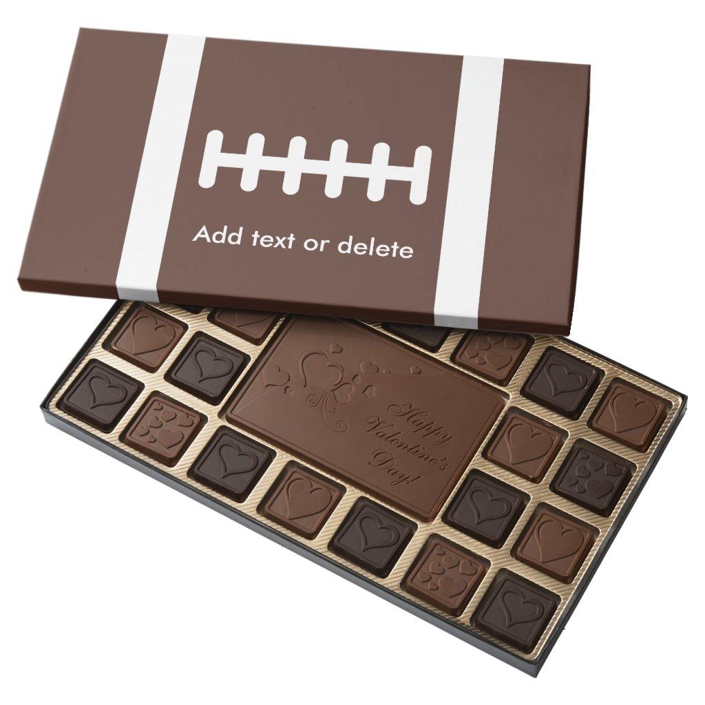 Novelty Football Assorted Chocolates
