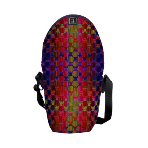 Novelty Headphones Multicolored Mosaic Pattern Messenger Bags