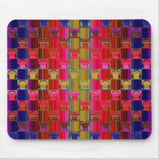 Novelty Headphones Multicolored Mosaic Pattern Mouse Pad