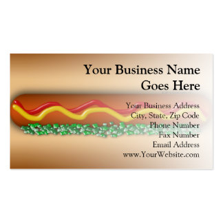 Novelty Hot Dog Graphic Business Cards