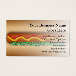 Novelty Hot Dog Graphic Business Card
