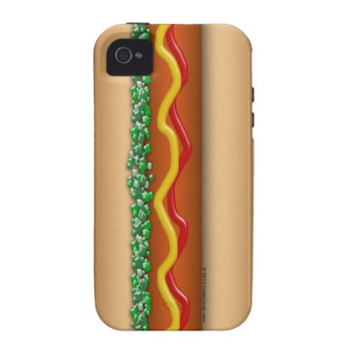Novelty Hot Dog Graphic Case-Mate iPhone 4 Covers