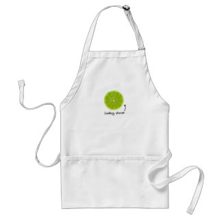 "novelty ""looking sharpe"" lime apron"