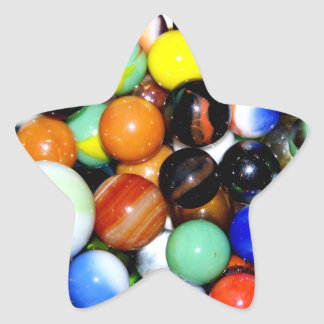 Novelty Marble Collection Star Sticker