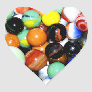 Novelty Marble Collection Heart Stickers