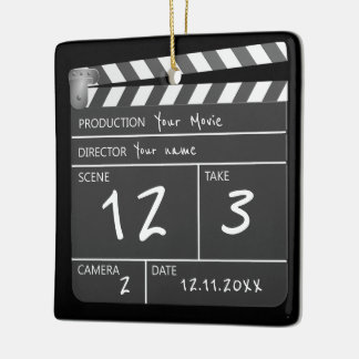 Novelty Personalized Custom Movie Clapperboard Ceramic Ornament