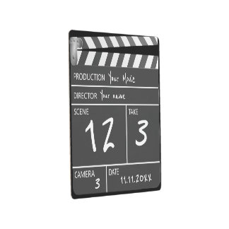 Novelty Personalized Custom Movie Clapperboard Metal Print