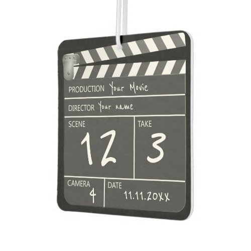 Novelty Personalized Unique Movie Clapperboard Air Freshener