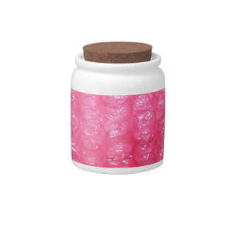 Novelty Pink Bubble Wrap Look Candy Dish