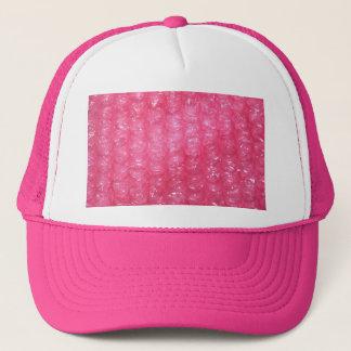 Novelty Pink Bubble Wrap Look Trucker Hat