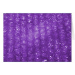 Novelty Purple Bubble Wrap Look Greeting Cards