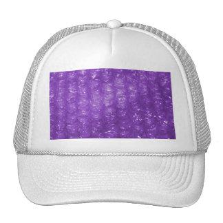 Novelty Purple Bubble Wrap Look Trucker Hat