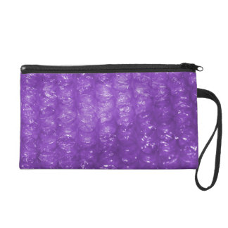 Novelty Purple Bubble Wrap Look Wristlet