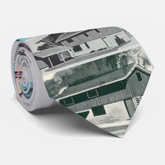 Novelty Retro Modern Houses Tie