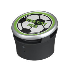 Novelty round soccer ball bluetooth speaker at Zazzle