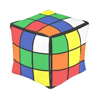 Novelty Square Retro Cube Game Cube Pouf