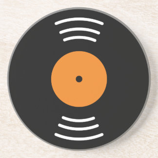Novelty vinyl record image sandstone drink coaster