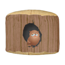 Novelty Woodland Forest Tree Stump Owl Pouf