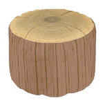 Novelty Woodland Forest Tree Trunk Stump Round Pouf