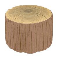 Novelty Woodland Forest Tree Trunk Stump Pouf