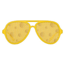 Novelty yellow cheese design party shades
