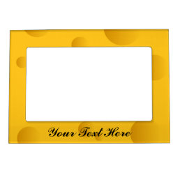 Novelty yellow cheese magnetic picture frame