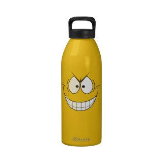 Novelty Yellow Evil Smiley Villain Water Bottle
