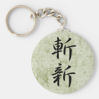 Novelty - Zanshin Basic Round Button Keychain