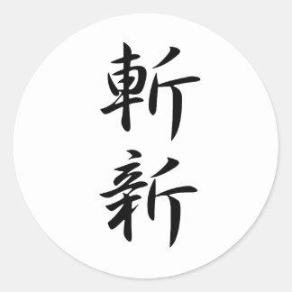 Novelty - Zanshin Classic Round Sticker