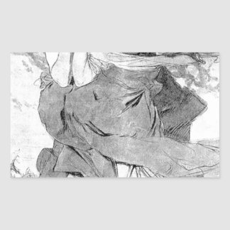 Novem by Alphonse Mucha Rectangular Sticker
