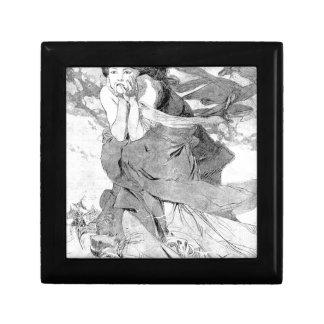 Novem by Alphonse Mucha Trinket Boxes